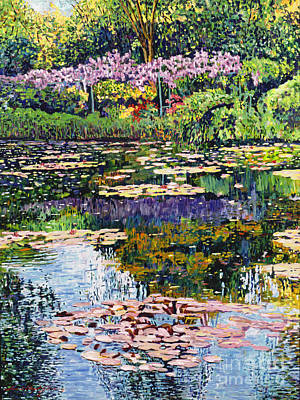 Wisteria Painting - Giverny Reflections by David Lloyd Glover