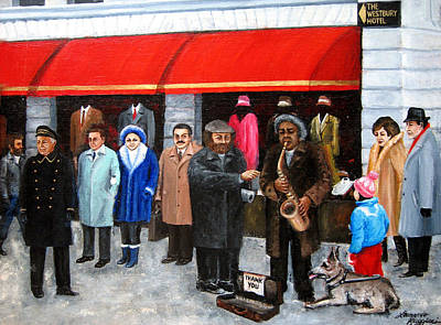People Painting - Givers And Takers by Leonardo Ruggieri