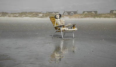 Human Skeleton Photograph - Giving Meditation A Try by Betsy Knapp