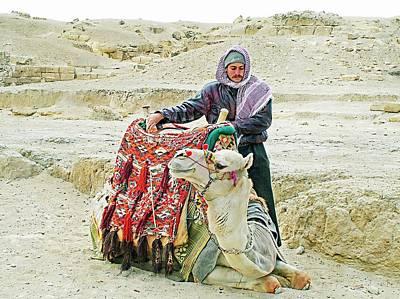 Pyramids Photograph - Giza Camel Taxi by Joseph Hendrix