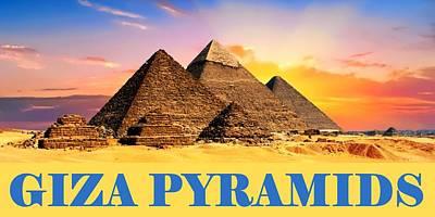 Cairo Mixed Media - Giza Pyramid by Otis Porritt