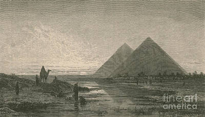 Photograph - Giza Pyramids by Science Source