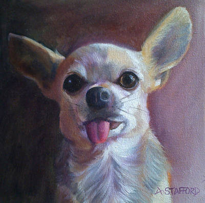 Wall Art - Painting - Gizmo by Alison Stafford