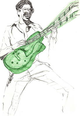 Drawing - Gj Guitar  by Michelle Gilmore
