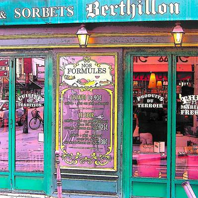 Glaces And Sorbets Berthillon Art Print