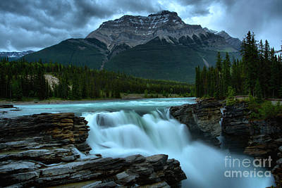 Photograph - Glacial Falls Under The Storm by Adam Jewell