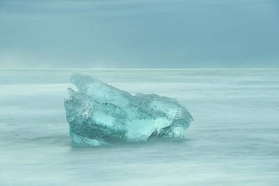 Photograph - Glacial Iceberg Seascape. by Andy Astbury