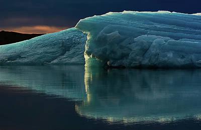 Photograph - Glacial Lagoon Reflections by Allen Biedrzycki