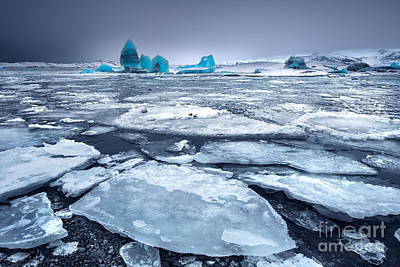 Photograph - Glacial Lake With Icebergs by Anna Om