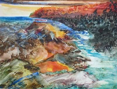 Glacial Meltdown Art Print