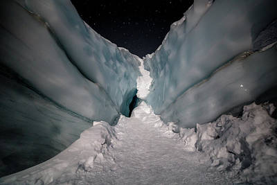 Photograph - Glacial Nights by Matt Skinner
