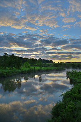 Photograph - Glacial Park Mirror Image Morning by Ray Mathis