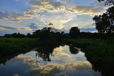 Photograph - Glacial Park Sunset Reflected In Nippersink Creek by Ray Mathis