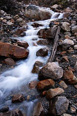 Photograph - Glacial Stream by Larry Ricker