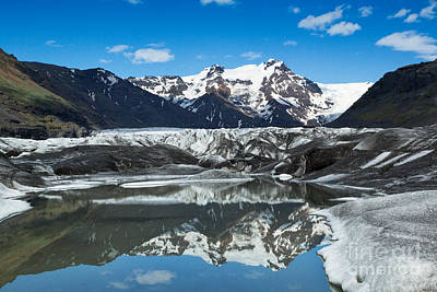 Photograph - Glacial Tarn Reflection by Stuart Gordon