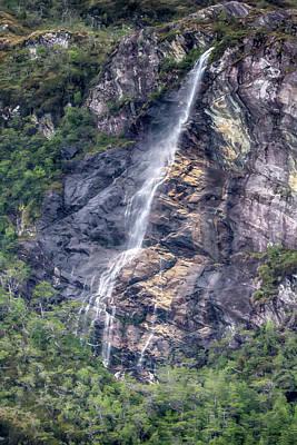 Photograph - Glacial Waterfalls by John Haldane