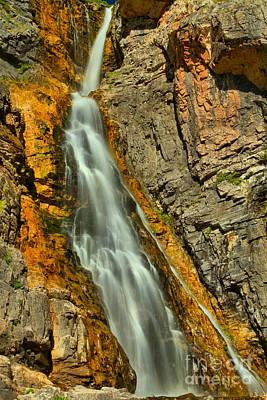 Photograph - Glacier Apikuni Falls by Adam Jewell