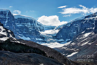 Photograph - Glacier At Columbia Ice Fields by David Arment