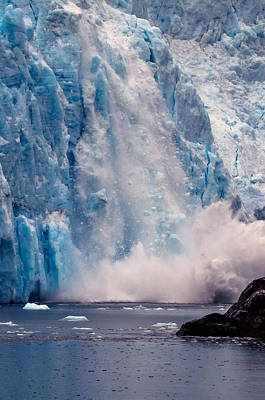 Photograph - Glacier Avalanche by Brian Stevens