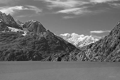 Photograph - Glacier Bay Seascapes Bw by Connie Fox