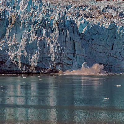 Photograph - Glacier Bay Ice Calving by Brenda Jacobs