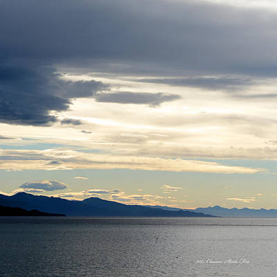 Photograph - Glacier Bay Seascapes. Morning Sky by Connie Fox
