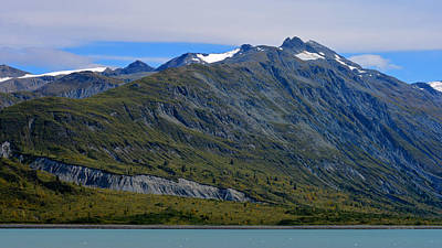 Photograph - Glacier Bay Seascapes. Mountain Majesty by Connie Fox