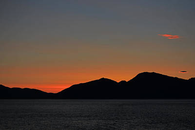 Photograph - Glacier Bay Seascapes. Sunset In Glacier Bay by Connie Fox