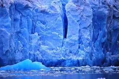 Alaskan Cruise Photograph - Glacier Blue by Helen Carson