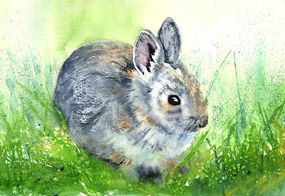 Painting - Glacier Bunny by Marsha Karle
