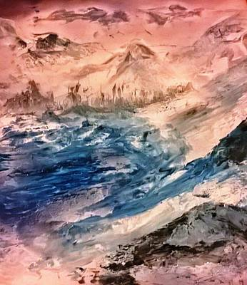 Painting - Glacier by CA Simonson