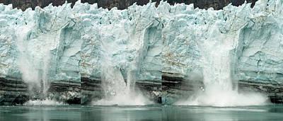 Glacier Calving Sequence 1 Art Print by Robert Shard