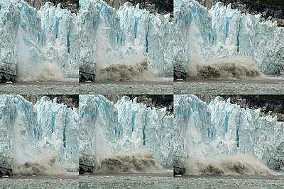 Glacier Calving Sequence 3 Art Print by Robert Shard