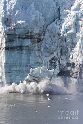 Photograph - Glacier Calving by Stan and Anne Foster