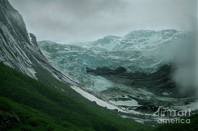 Photograph - Glacier Carving Valley Alaska by Rick Bures