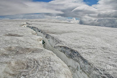 Sports Royalty-Free and Rights-Managed Images - Glacier crack by Patricia Hofmeester