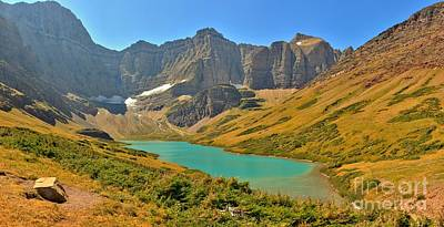 Glacier Cracker Lake Panorama Art Print by Adam Jewell