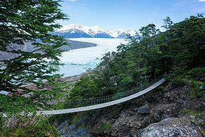 Photograph - Glacier Grey Bridge by Kent Nancollas