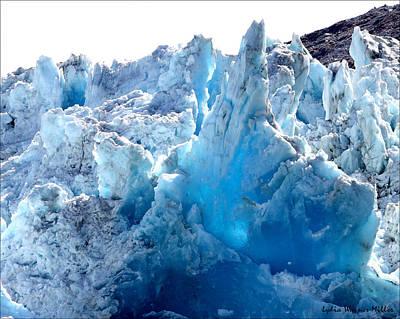 Glacier Ice 1 Art Print