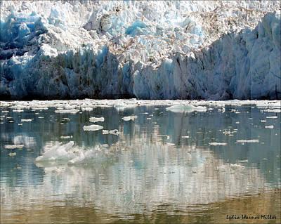 Glacier Ice 25 Art Print