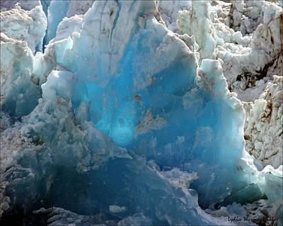 Glacier Ice 34 Art Print