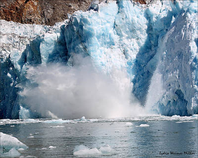 Glacier Ice 38 Art Print