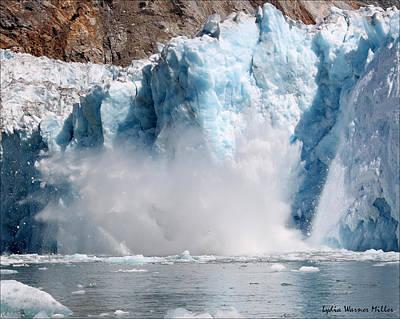 Glacier Ice 39 Art Print