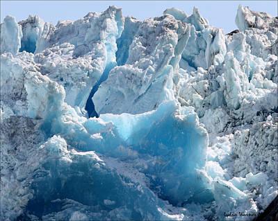 Glacier Ice 41 Art Print