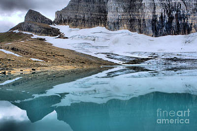 Photograph - Glacier Ice A Stone Reflections by Adam Jewell
