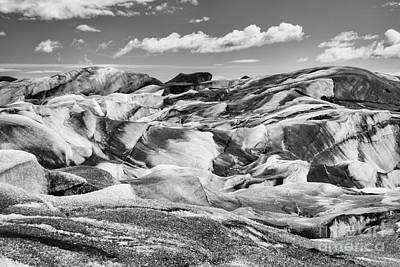 Photograph - Glacier In Black And White by Stuart Gordon