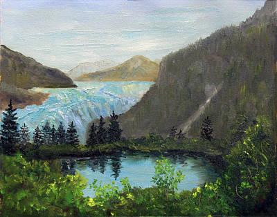 Mendenhall Glacier Painting - Mendenhall Glacier by Jim Leach