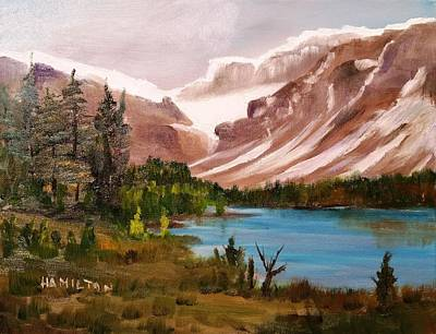 Painting - Glacier Lake by Larry Hamilton