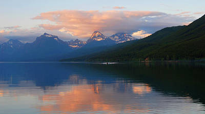 Glacier Lake Art Print