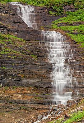 Waterfalls Photograph - Glacier Melt by Loree Johnson